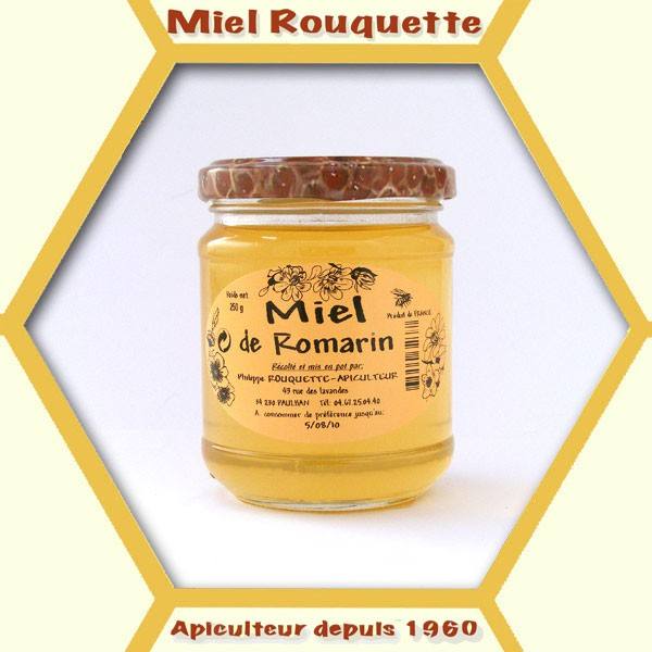 MIEL DE ROMARIN CREMEUX 250 G